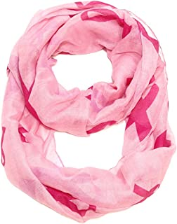 Women's Pink Ribbon Breast Cancer Symbol Scarf