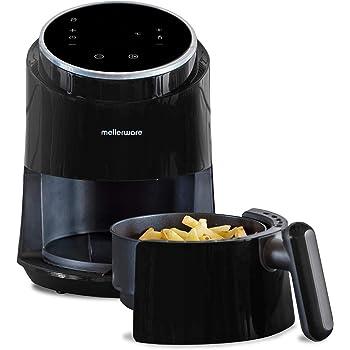 Mellerware Freidora de Aire Crunchy! Freidora sin Aceite. 7 programas predefinidos. cocción 80-200 Grados. Diseño Compacto. 1, 4 litros Capacidad. (Black): Amazon.es