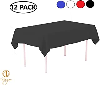 Norzee 12-Pack Disposable Plastic Tablecloths, 54