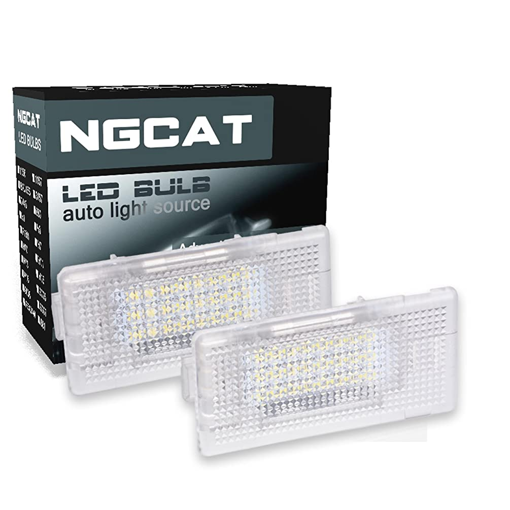 NGCAT 1Pair 24SMD White 6000K LED License Number Plate Light Lamps