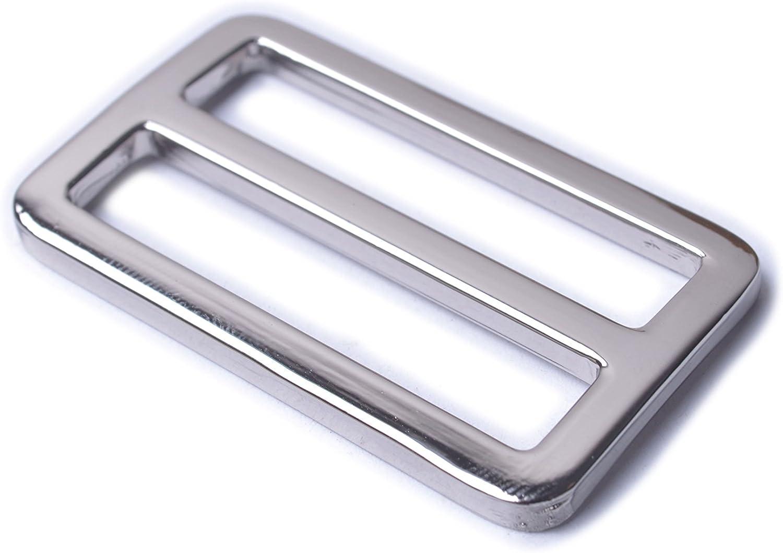 CRAFTMEmore Movable Bar Slide Strap Adjuster Rectangle Strap Keeper Triglide Belt Keeper Purse Making 5//8 3//4 1 Pack of 10 5//8 Inch, Silver