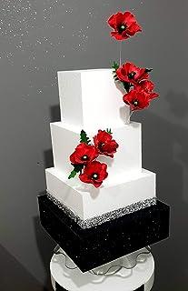 Luxury Cake - TORTA SCENOGRAFICA con Papaveri Compleanno Matrimonio Laurea Anniversario - Personalizzabile - FoamArt