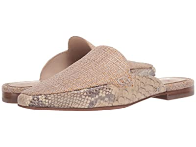 Sam Edelman Eiko (Natural/Wheat Multi Shimmer Linen/Exotic Snake Print Leather) Women