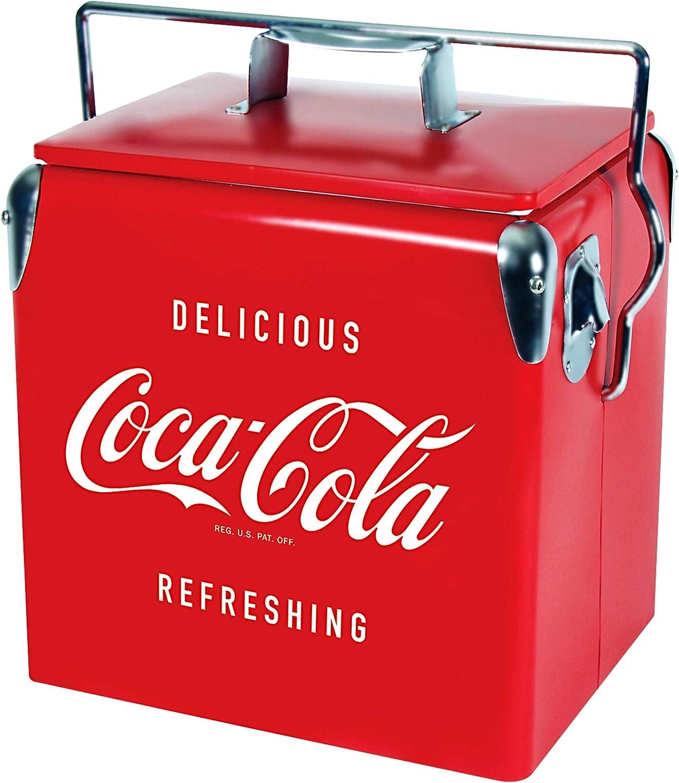 Coca Cola Retro Ice Chest Regular dealer Cooler with Opener Bottle L Qua 14 13 Over item handling