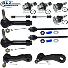 DLZ 12 Pcs Front Suspension Kit-Lower Upper Ball Joint Sway Bar Inner Outer Tie Rod End Idler Arm Pitman Arm Groove Compatible with Chevrolet Silverado 1999-2006/GMC Sierra 1500 Yukon 2002-2006