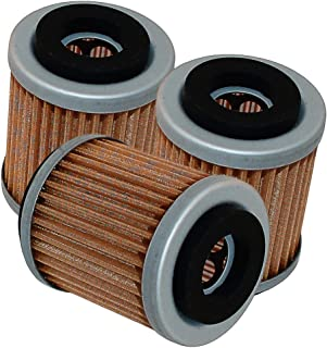 Caltric 3-PACK Oil Filter Fits YAMAHA BIG BEAR 400 YFM400 YFM-400 YFM400S 2WD 4WD 2000-2004