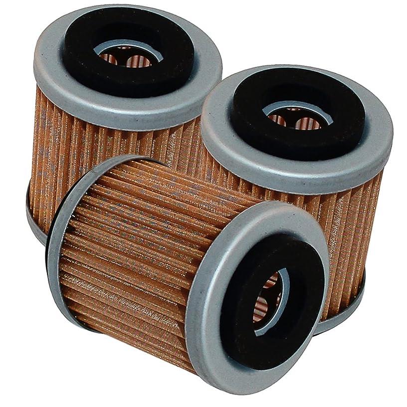 Caltric 3-PACK Oil Filter Fits YAMAHA WARRIOR YFM350 YFM-350 X YFM35 350 1987-2004 ATV
