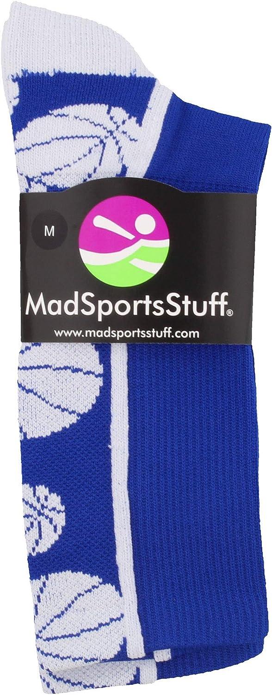 MadSportsStuff Crazy Basketball Logo Crew Socks (Multiple Colors)