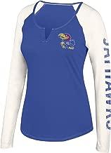 J America NCAA Women's Notch Neck Long Sleeve Tee