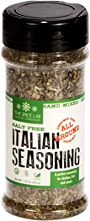 The Spice Lab Salt Free Italian Seasoning - Spice Shaker Jar –1.5 oz- Excellent Pasta Sauce or Pizza Sauce Seasoning - Glu...