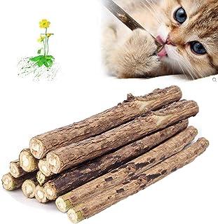 Lightton 12本猫歯ぎしり棒 噛むスティック 純天然マタタビ またたびの木 天然安全 おもちゃ 肥満解消 歯のクリーニングスティック ストレス解消