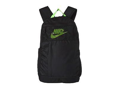 Nike Elemental LBR Backpack 2.0 (Black/Electric Green/Electric Green) Backpack Bags