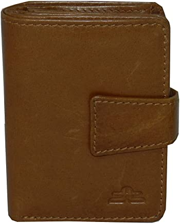 Laveri Bill and Card Holder Unisex Wallet, Leather - Tan