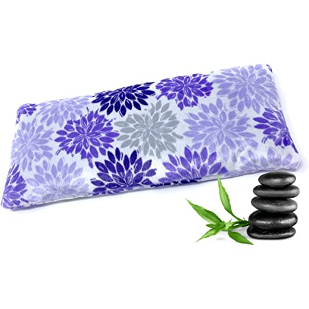 Natural Soothing Aromatherapy Lavender Infused Eye Pillow for Yoga, Sleeping, Meditation, Relaxation, Headache, Stress Relief | Herbal Eye Mask - Purple Fleece - Pack of 1