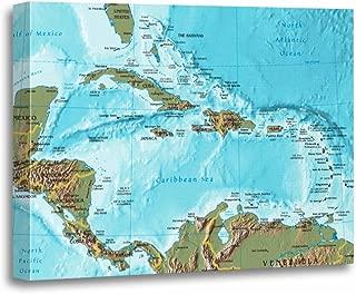 caribbean map art