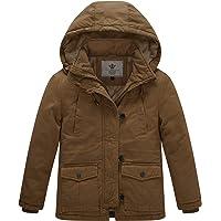 WenVen Kids Thicken Cotton Twill Hooded Jacket