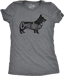 Womens Corgi Mom T Shirt Funny Dog Mama Tshirt Great Pet Lover Gift