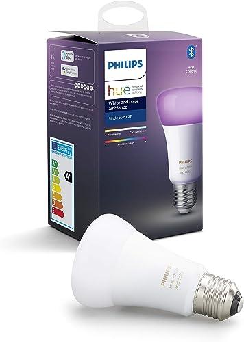 Philips Hue Ampoule LED Connectée White & Color Ambiance E27 Compatible Bluetooth, Fonctionne avec Alexa