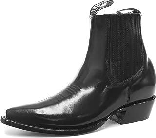 Grinders Austin Mens Western Cowboy Ankle Zip Boots