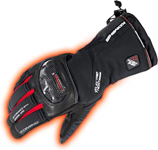 コミネ KOMINE バイク カーボンプロテク トエレクトリックグローブ 手袋 電熱 発熱 防寒 BLACK/RED L 08-200