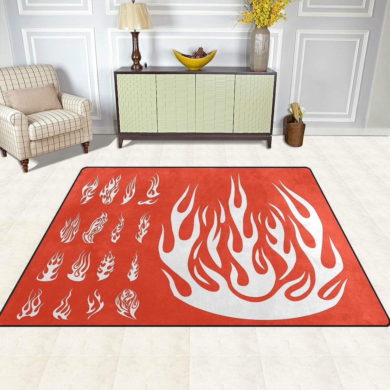 FAJRO Flames Silhouettes Set Rugs for entryway Doormat Area Rug Multipattern Door Mat shoes Scraper Home Dec Anti-Slip Indoor Outdoor