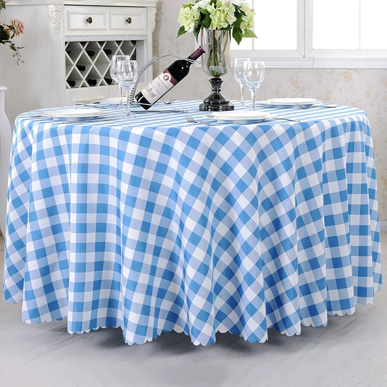 JIANFEI Runde Tischdecke Tischtuch Tischwsche Gitter Frisch weich 5 Farben, 12 Gren optional (Farbe   Sky Blau, gre   3.8m Splicing)