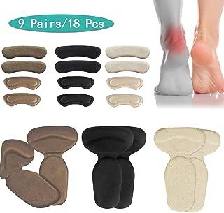 (18pcs) Heel Cushions-Heel Grips/High Heel Pads Inserts,Reusable Heel Liner Protector Best for Loose Shoe,Heel Anti Slips,Blister,Heel Rubbing and Heel Pain Relief Bunion Callus, for Men & Women.