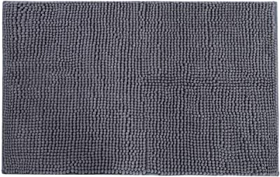Maxmartt Chenille Anti-Slip Water Absorbent Non-Slip Mat Bathroom Living Room (Dark Gray)