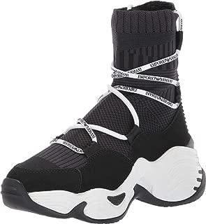 Women's Sneaker HIGH TOP, Black, 40 Regular EU (10 US)