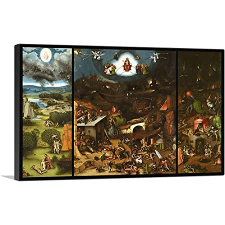 Amazon Com Artcanvas The Garden Of Earthly Delights 1515 Canvas Art Print By Hieronymus Bosch 40 X 26 0 75 Deep Posters Prints