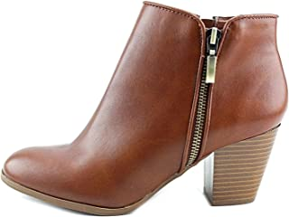 Womens Jamila Leather Almond Toe Ankle Fashion, Barrel, Size 8.0