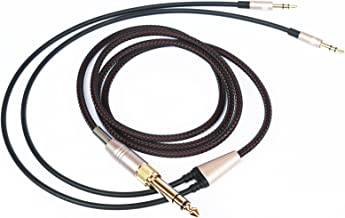 NEW NEOMUSICIA Replacement Cable Compatible with Hifiman HE4XX, HE-400i (The Latest Version with Both 3.5mm Plug) Headphones 3.5mm / 6.35mm to Dual 3.5mm Jack Male Cord 1.2m/4ft