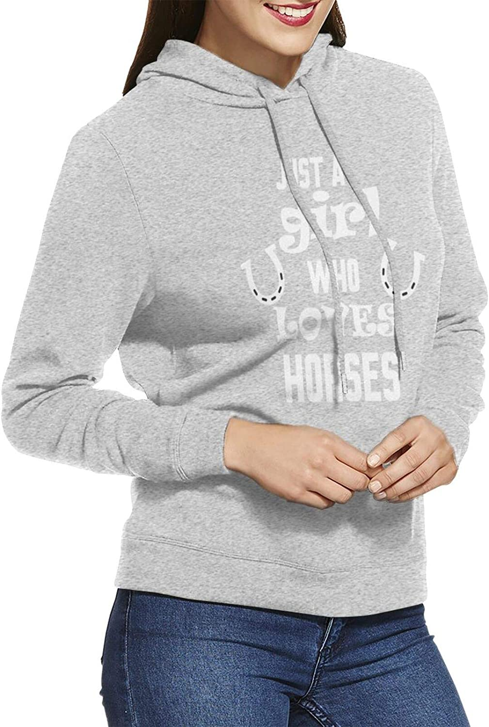 AIMILUX Women's Hoodie Sweatshirt online shopping Just New Shipping Free A H Who Girl Loves Horses