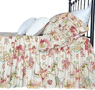Queen's House Dust Ruffles Boho Lotus Print Bed Skirt Romantic Bedspreads-E-Full 16