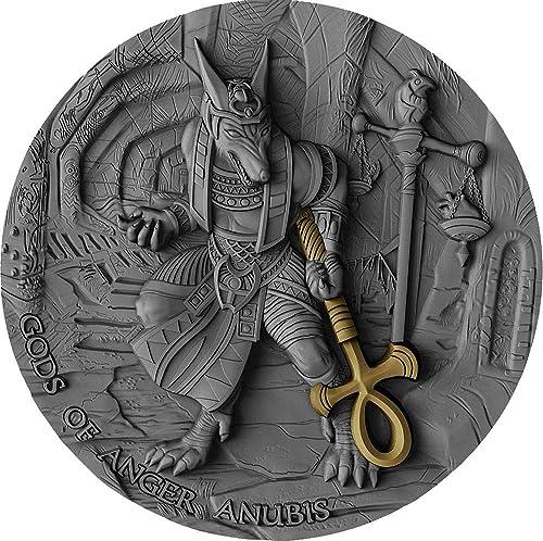 100% garantía genuina de contador Power Coin Anubis Anubis Anubis Gods of Anger 2 Oz Moneda plata 5  Niue 2019  ¡envío gratis!