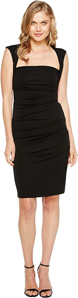 Sleeveless Jersey Tuck Dress