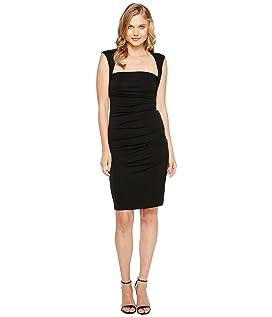 Sleeveless Jersey Tuck Dress