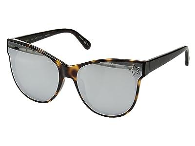 Stella McCartney SC0100S (Dark Havana/Silver) Fashion Sunglasses