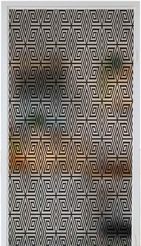 Glass Window Film overseas No Glue NEW Geometric Hexagon Privacy Cling