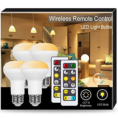 JandCase BR20 LED Bulb with Remote Control, War...
