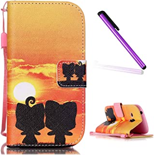 a8a9a197717 Funda Samsung Galaxy S3 Mini,EMAXELERS Funda Galaxy S3 Mini Libro Suave PU  Leather Cuero