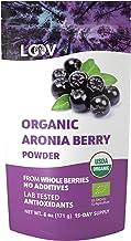 Polvo de Bayas de Aronia Orgánico, suministro para 15 días, 171 g, sin azúcar