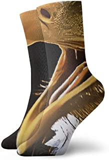 Kevin-Shop, Eagle Roaring Calcetines Casuales Suaves y Transpirables con Tobillo Alto Medias más Gruesas Debajo de la Rodilla Calcetines cómodos
