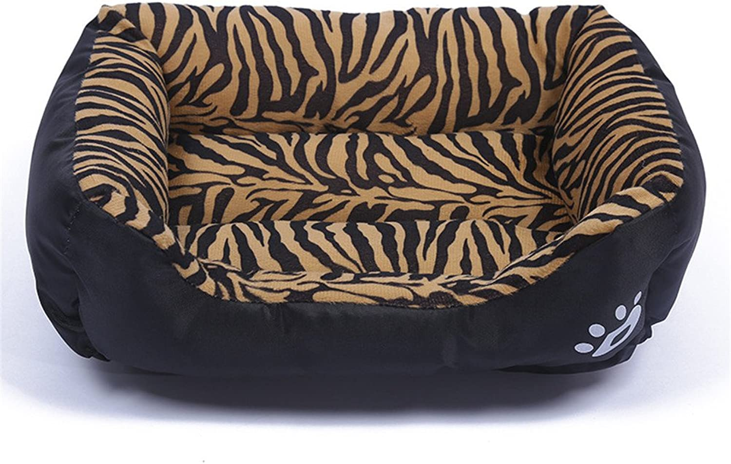 LXLP Kennel Doghouse Bed 2017 New Washable Premium Dog and Cat Bed PP Cotton  A Puppy and Kitty Dream BedsFour Seasons Common 12 Colour 6 Size (XL, Tiger Pattern)