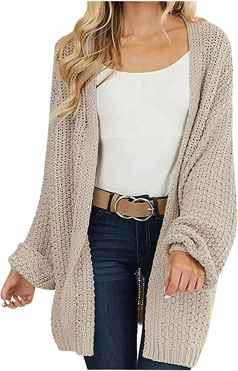Sweaters for Women Casual Solid Cardigan Fashion V-Neck Long Sleeve Ladies Tops Coat Thin Outerwear