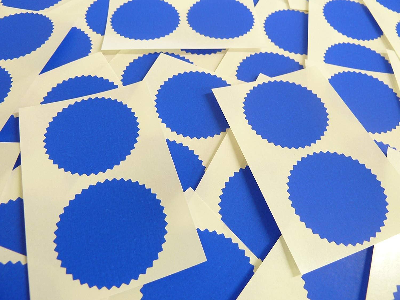50 mm Dentelé Edge Rouge certificat Seal Stickers étiquettes gaufrage Awards BLC553