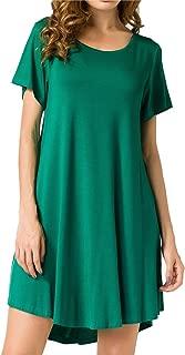 Best green tee shirt dresses Reviews