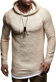 Leif Nelson Sudadera de Hombre con Capucha suéter de la Capilla LN-8120