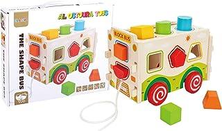 Al Ostoura Toys 2724602236183 The Shape Bus Educational Wooden Toy
