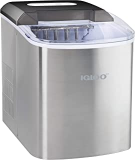 Igloo ICEB26SS Automatic Portable Electric Countertop Ice Maker Machine, 26 Pounds in 24 Hours, 9 Ice Cubes Ready in 7 min...